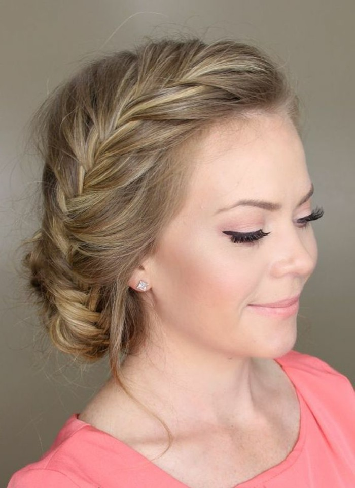 recogidos sencillos trenzados para cualquier ocasión, peinados faciles media melena en fotos