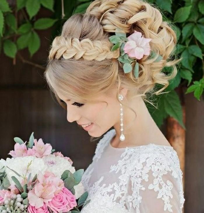 peinados faciles paso a paso para bodas, peinados de novia originales y bonitos con trenzas