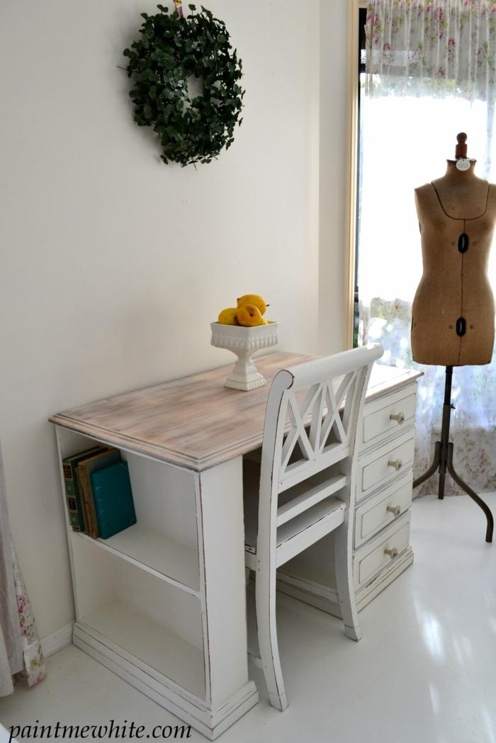 decoración oficina con muebles restaurados, bonitas ideas de restaurar muebles de madera