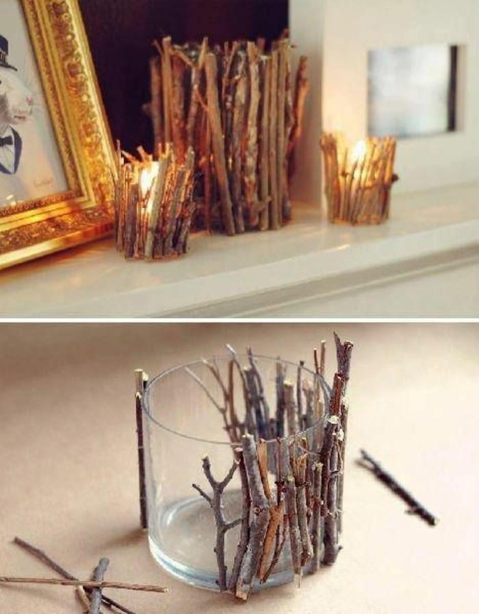 candelabro DIY en estilo rústico para decorar la casa, ideas para regalos de cumpleaños