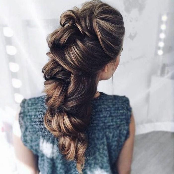 preciosas ideas de peinados faciles de hacer, peinados para ir a una boda, recogido moderno y elegante