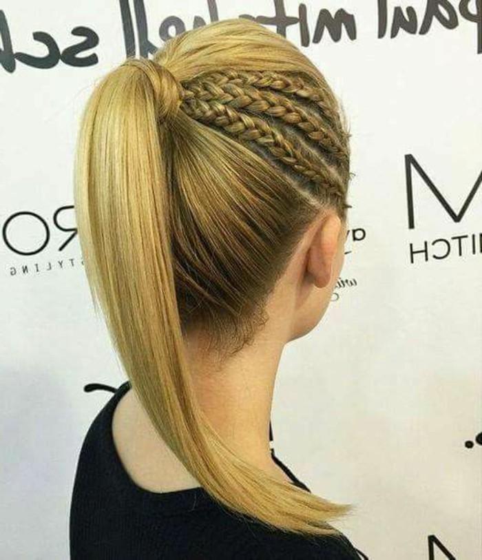 ideas de peinados para pelo largo, recogido bonito con trenzas, peinados originales para ocasiones especiales