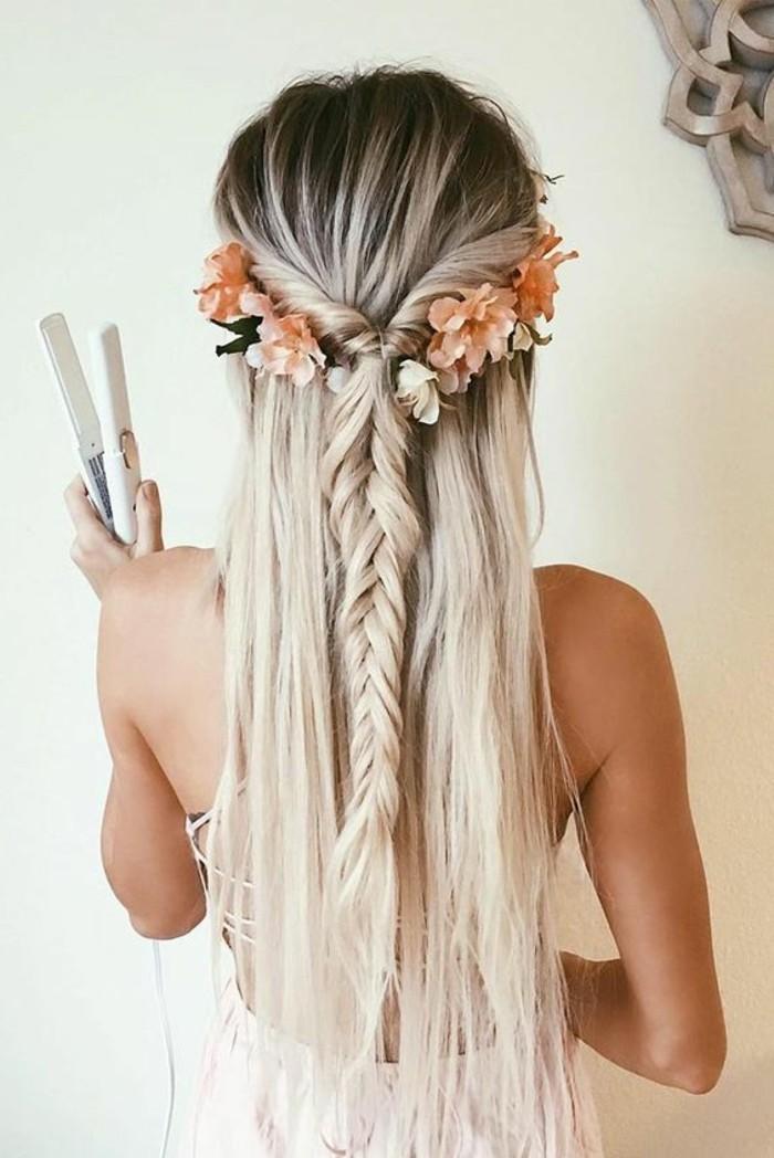 las mejores ideas de peinados pelo largo para bodas y eventos especiales, semirecogido trenzado pelo largo