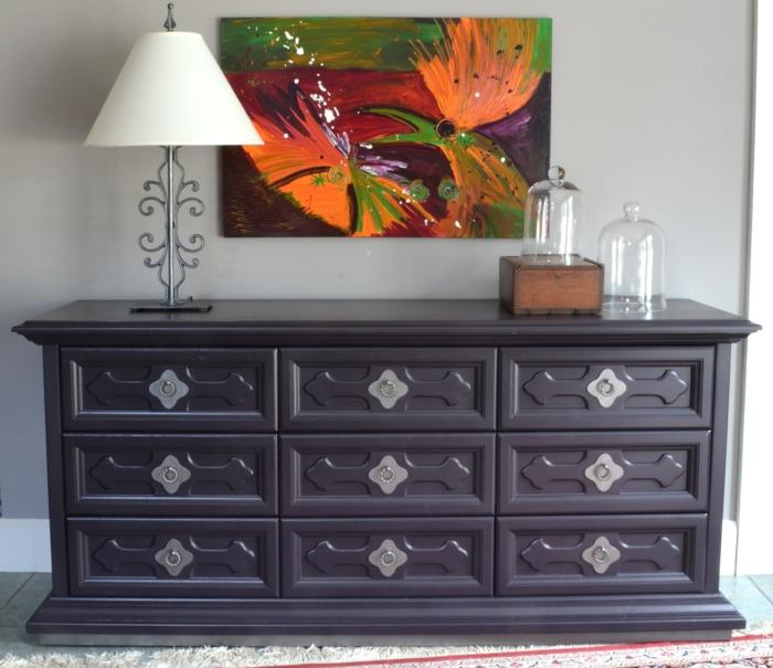 como pintar un mueble de melamina originales paso a paso, grande armario pintado en color oscuro