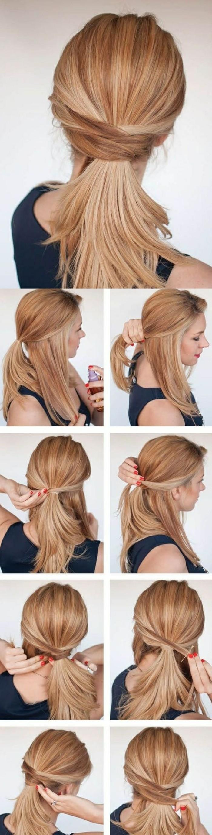 ideas de peinados con trenzas faciles, recogidos sencillos paso a paso, peinados media melena