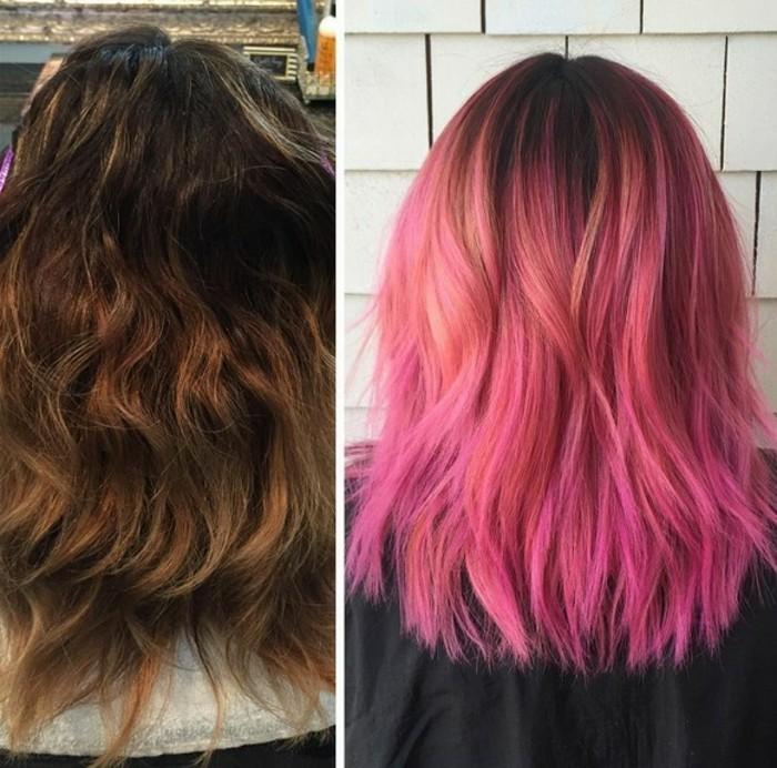 bonitos ejemplos de transformación de pelo, colores de pelo modernos en 2019, fotos de mechas balayage