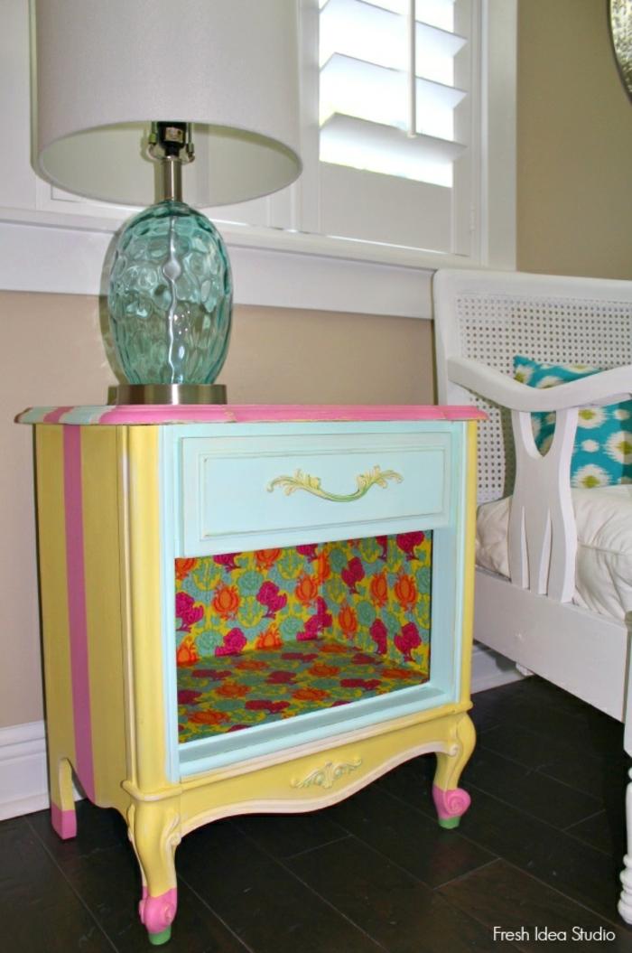pintar muebles viejos en colores vibrantes paso a paso, como pintar un mueble de melamina