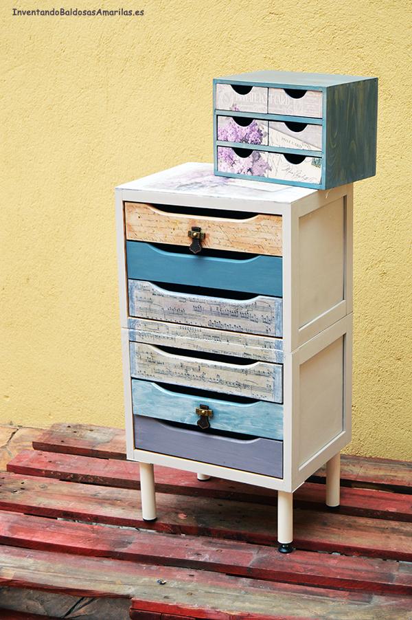 ideas bonitas sobre como pintar un mueble de melamina, armarios pequeños pintados en bonitos colores, ideas de muebles restaurados en fotos