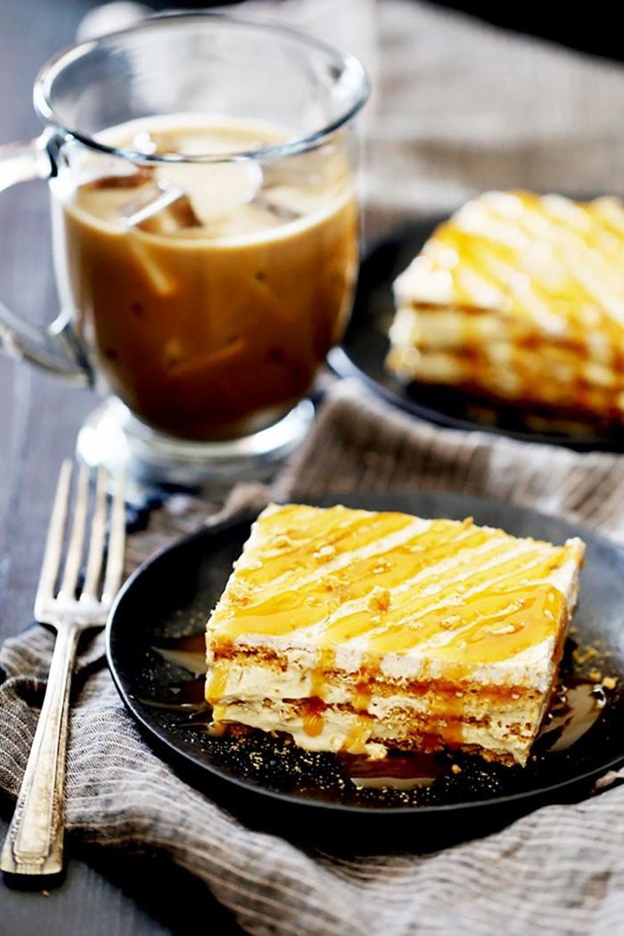las mejores propuestas de postres faciles de hacer en casa frios, tarta con caramelo casera