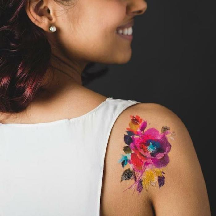 diseños de tatuajes temporales, tatuajes bonitos y originales, tatuajes en colores llamativos