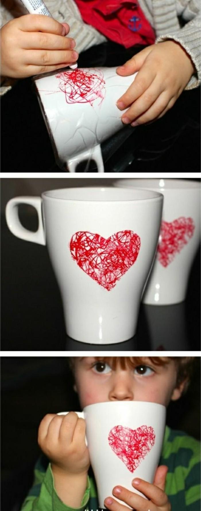 ideas para regalar en navidad originales manualidades para pequeños y adultos, tazas de té personalizadas