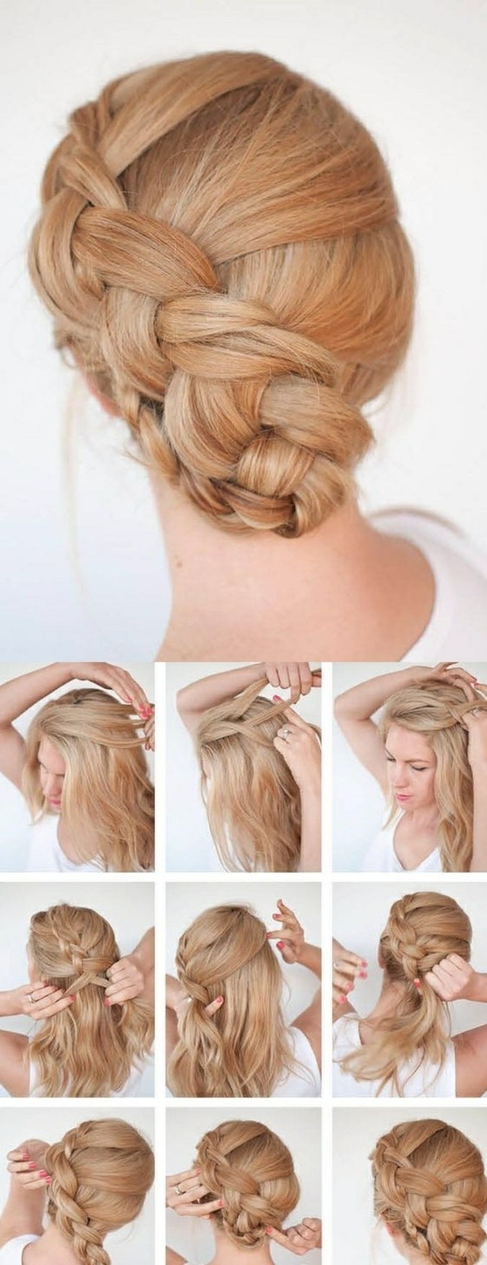 peinados para pelo largo, adorables ideas sobre cómo hacer recogidos trenzados originales
