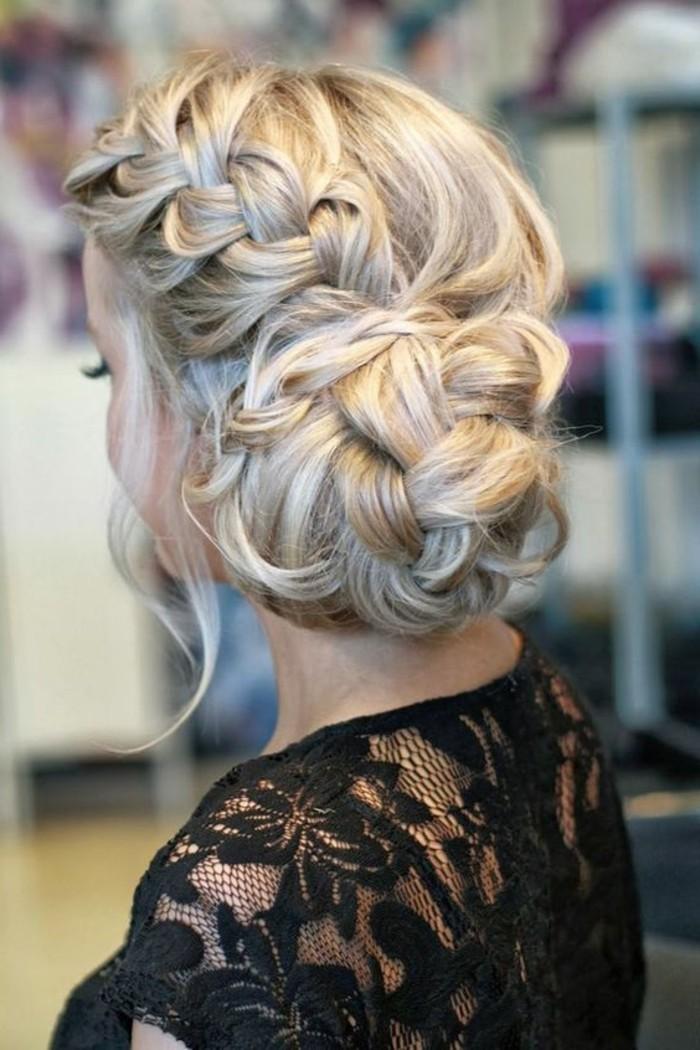 precioso peinado con trenza lateral y bonito moño, peinados para pelo largo en imagines