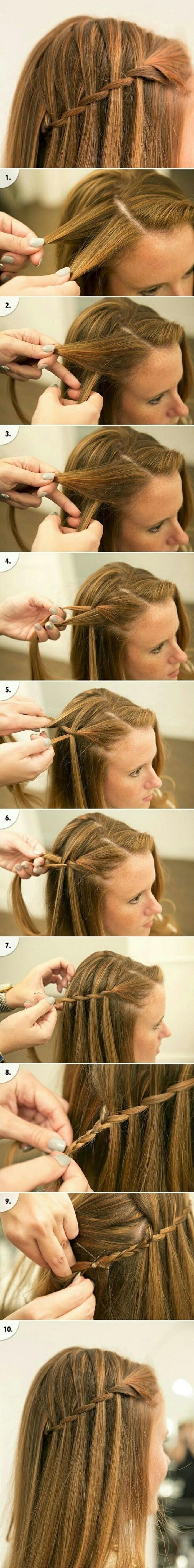 ideas de peinados pelo suelto con instrucciones paso a paso, pelo largo con bonita trenza lateral