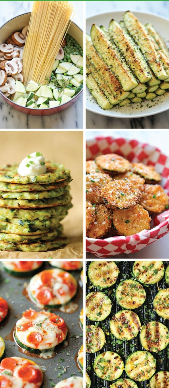 recetas únicas de calabacines, ideas de comidas de verano, panqueques de calabacines, cenas sanas que no engorden