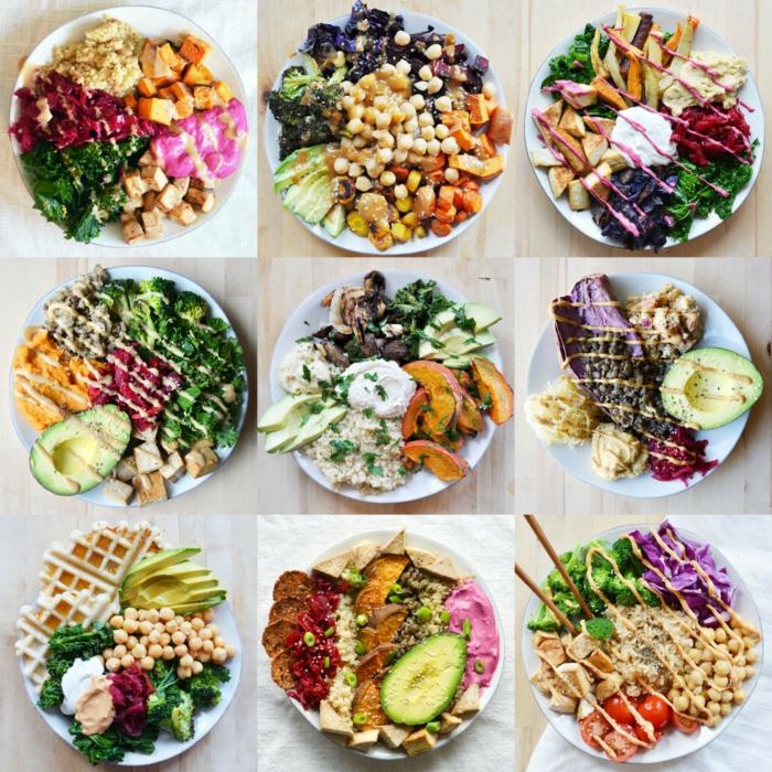 9 propuestas únicas de platos saludables y ricos para un almuerzo equilibrado, ideas de tabla de comidas para adelgazar