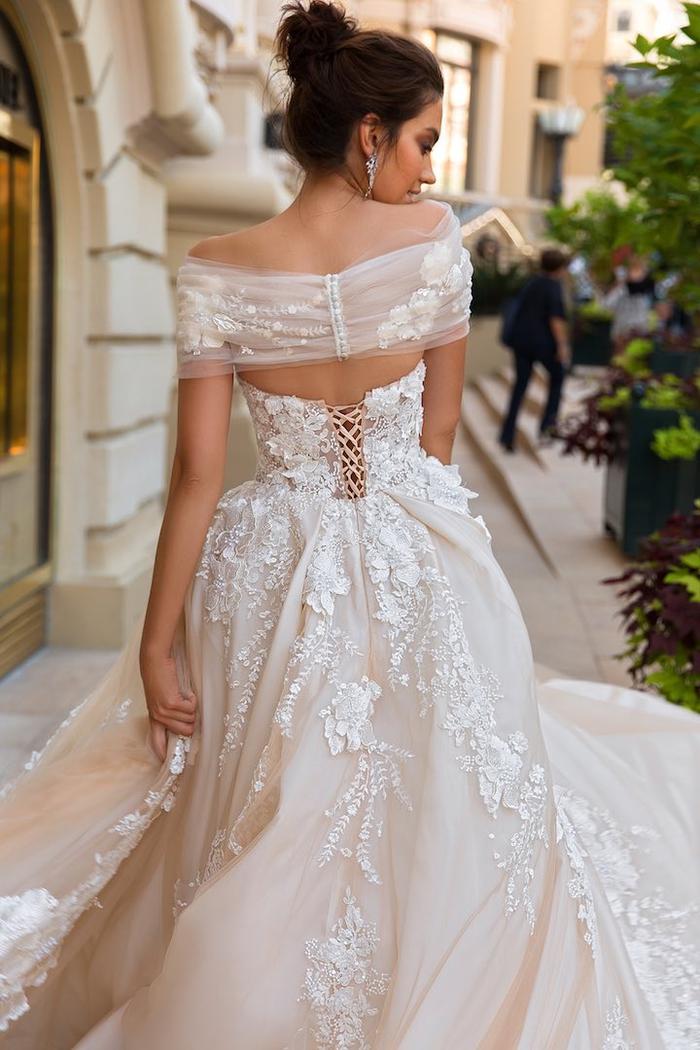 interesantes diseños vestidos de novia de dos partes, vestido de novia princesa bonitos, 80 imagines de vestidos de novia