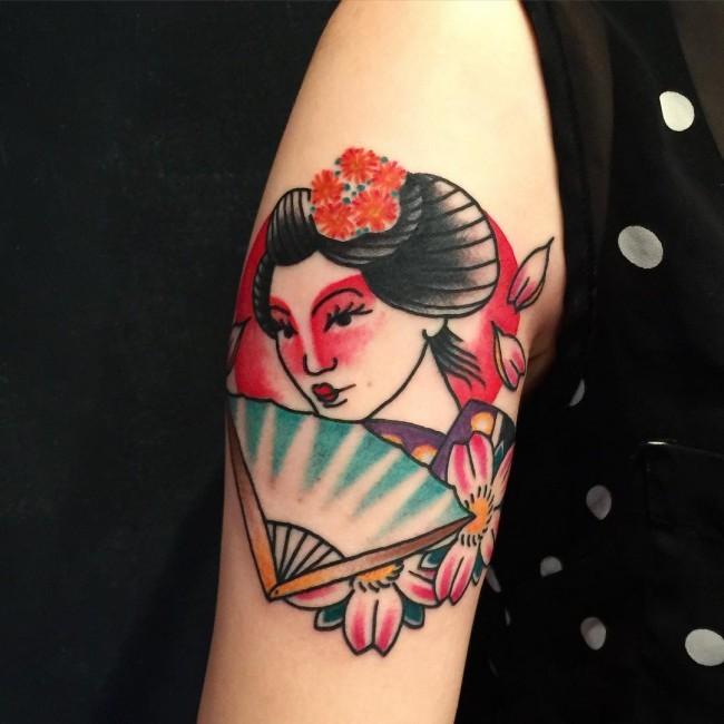 originales diseños de tatuajes-japoneses, ideas para hombres y mujeres, diseños de tatuajes en el brazo simbolicos