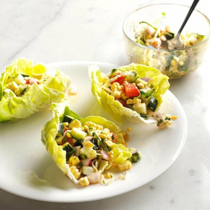 propuestas de comidas ligeras para cenar, ideas de cenas sanas que no engorden en más de 88 fotos, tacos de lechuga