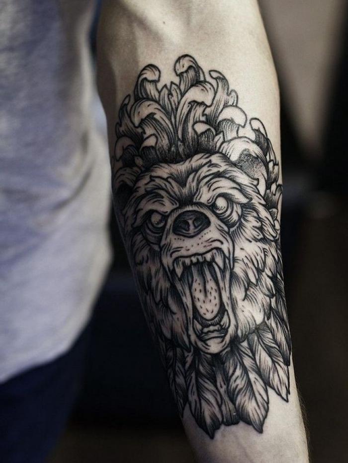 tatuaje leon en el antebrazo, tatuaje antebrazo para hombres, galería de imagines de tatuajes en el antebrazo hombre