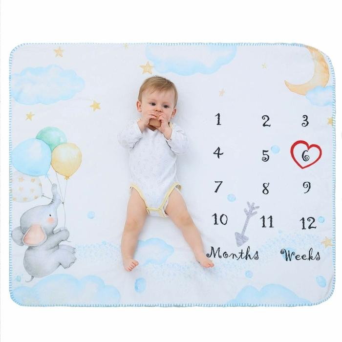 fotos de regalos originales para recién nacidos personalizados, manta calendario, ideas de regalos para bebés de 6 meses