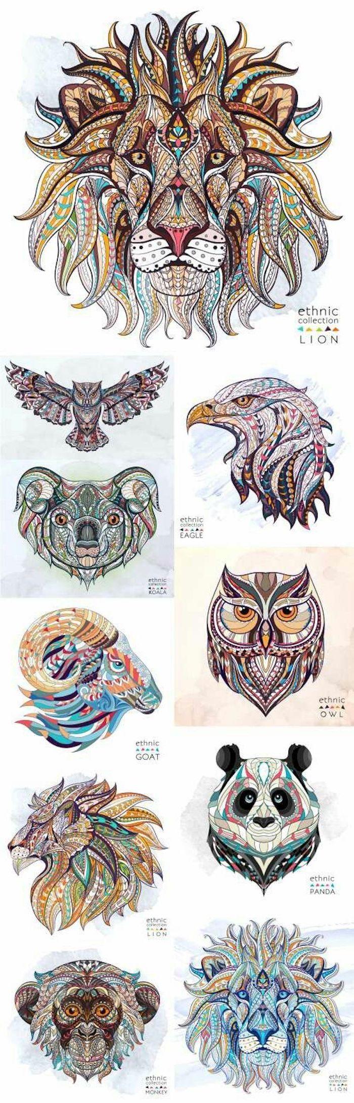 qué significan los tatuajes de animales, tattoo diseños con animales, preciosos ejemplos de tatuajes geométricos con animales