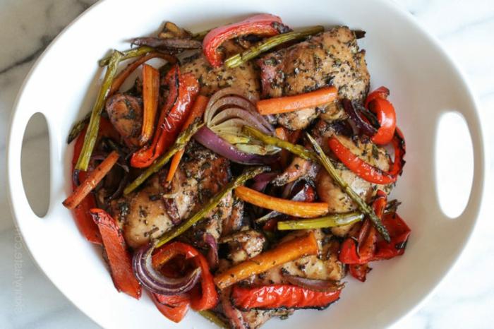 recetas con pollo saludables y ricas, menus para adelgazar originales y fáciles de hacer, pollo con verduras a la parrilla