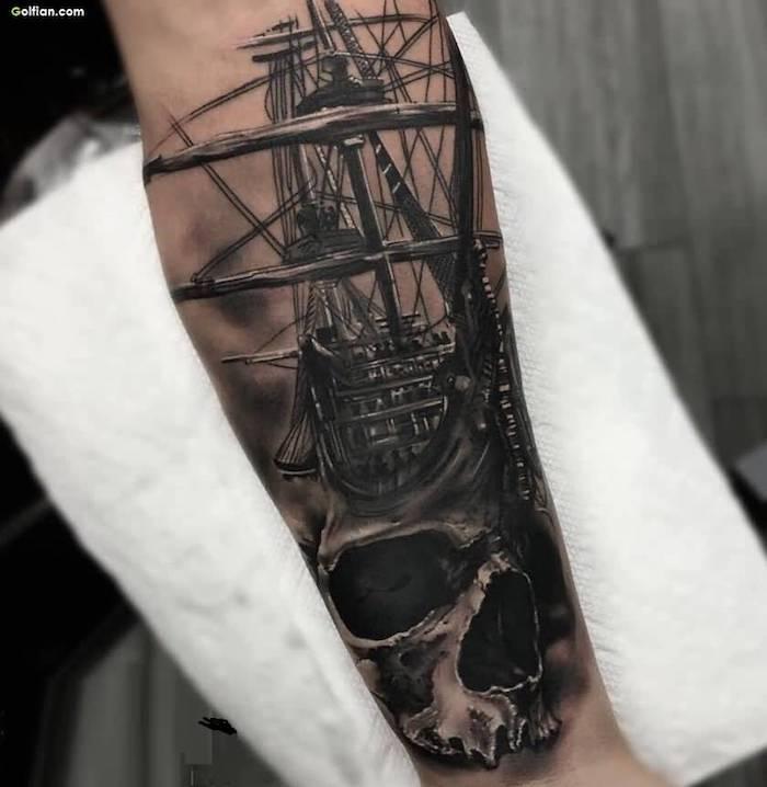 diseños de tatuajes vintage en el antebrazo, ideas de diseños tatuajes antebrazo hombre, tatuajes diseños inusuales
