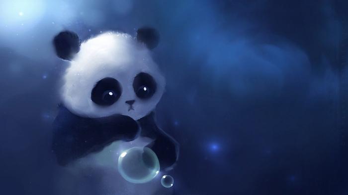 simpáticos fondos de pantalla gratis, adorable dibujo de una pequeña panda, más de 138 propuestas de dibujos descargables gratis,