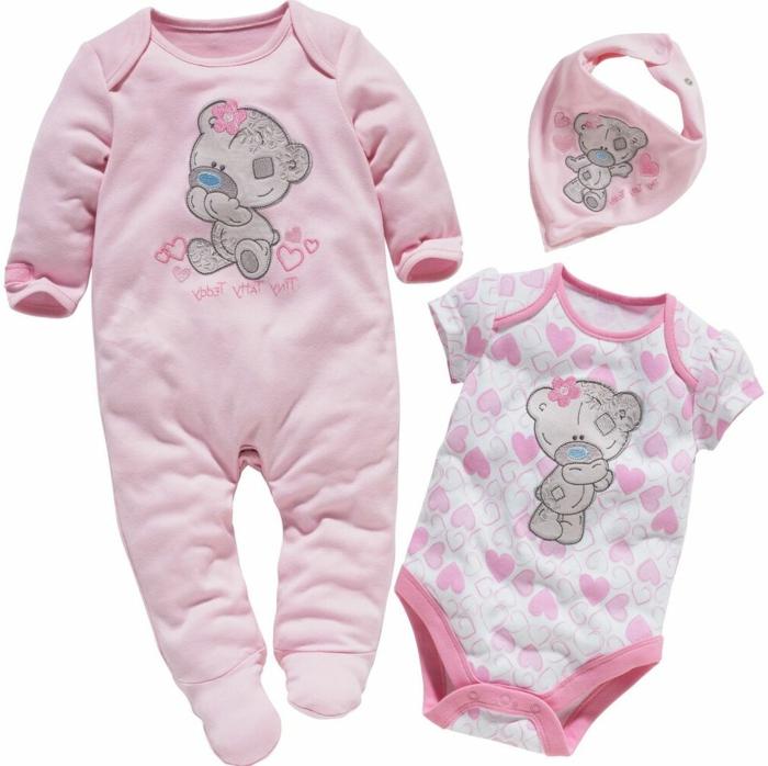 diseños bonitos de prendas para bebés con dibujos animados, originales ideas de regalos para bebes personalizados niña
