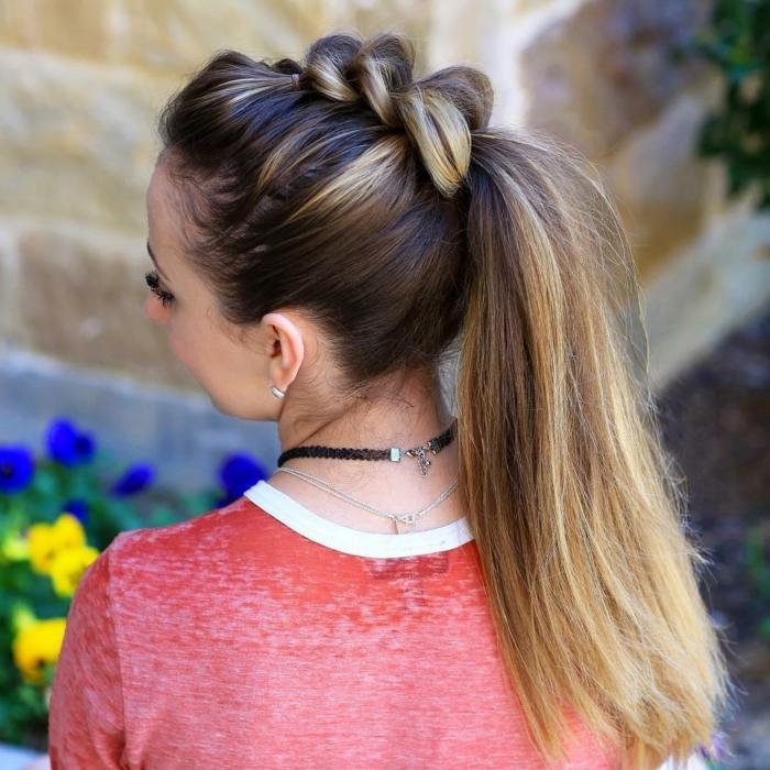 precioso recogido pelo largo, peinados medievales pelo suelto, bonitas ideas de peinados para melenas largas, pelo mechas balayage