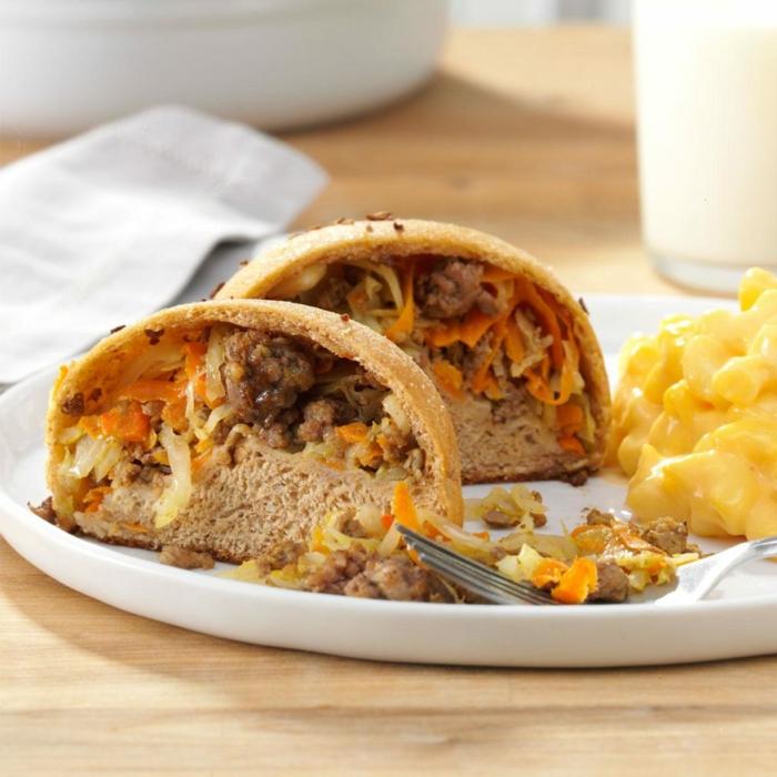 pan relleno de verduras y albóndigas, ideas originales de cenas ligeras y rapidas de preparar, cenas nutritivas y saludables