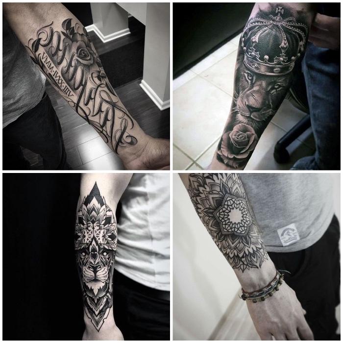 tatuajes con fuerte significado en el antebrazo, diseños de tatuajes únicos para hombres y mujeres, ejemplos de brazo entero tatuado