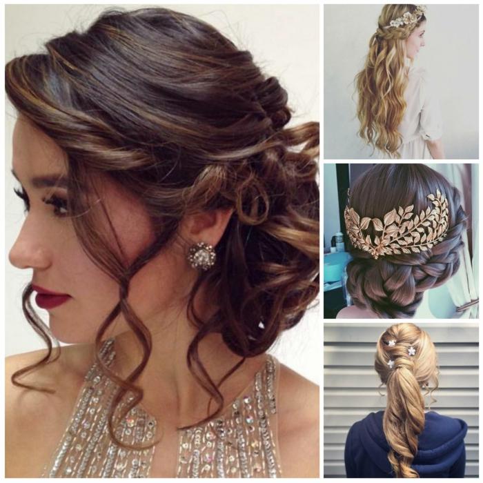 recogidos en estilo vintage con accesorios de pelo ornamentados, como hacer peinados medievales bonitos, ideas en 75 fotos