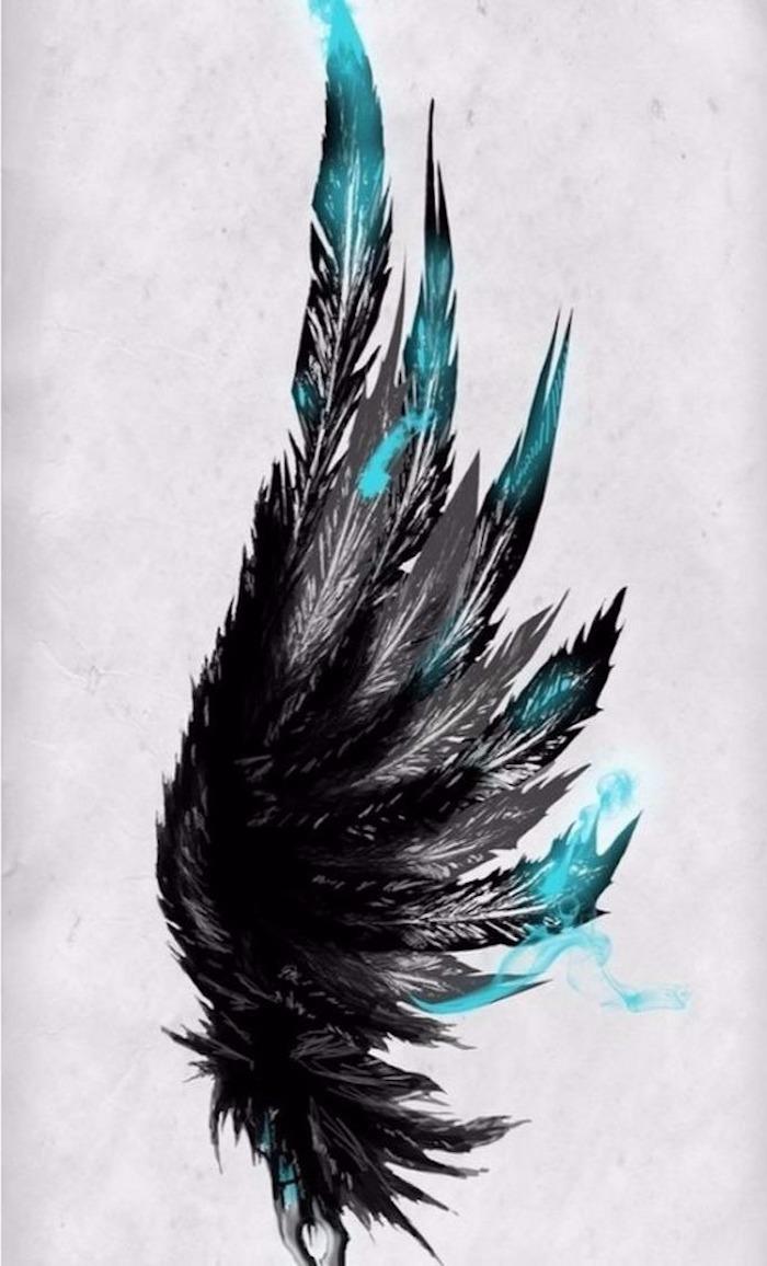 los mejores diseños de tatuajes con plumas, dibujos tattoo bonitos y originales, diseños de tatuajes con fuerte significado