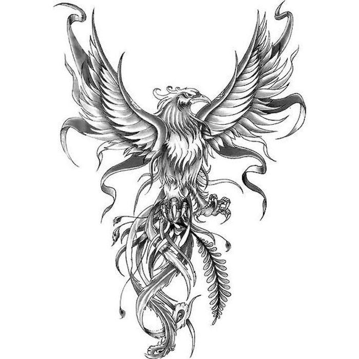 ejemplos bonitos dibujos para tatuajes con motivos con fuerte significado, dibujo tatuaje aguila, diseños de tattoos originales