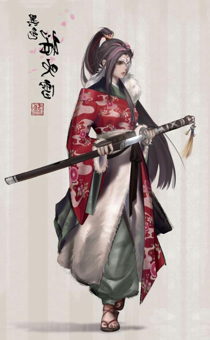dibujos para tatuajes originales, tatuajes samurai bonitos, diseños de tattoos inspirados en la tradición asiática en bonitas imagines