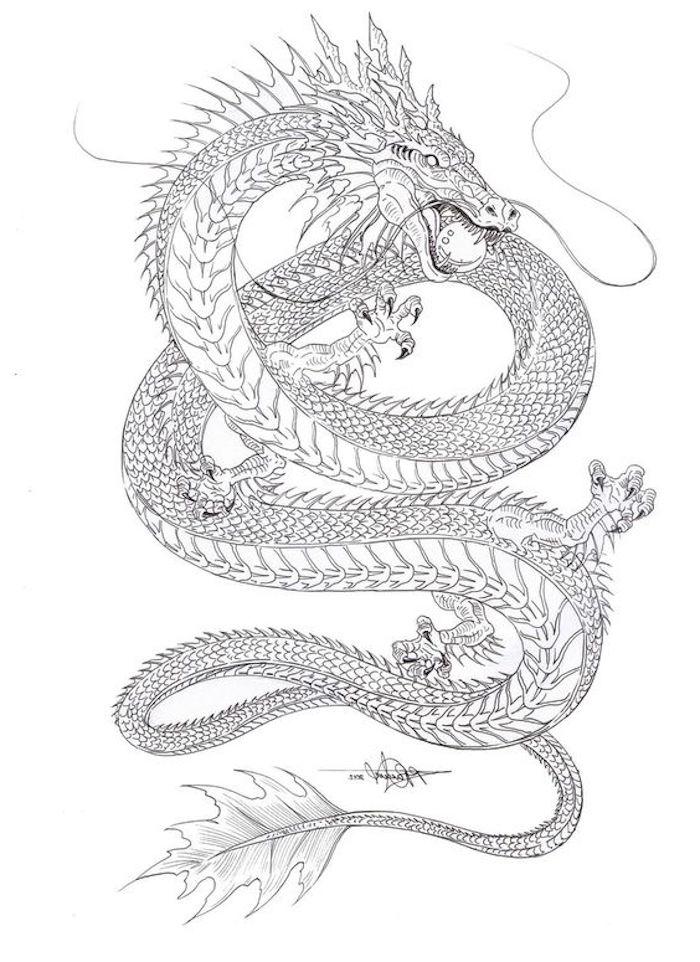 tatuajes de dragones originales con simbología, dibujos para tatuajes inspiradores, fotos de tattoos para descargar