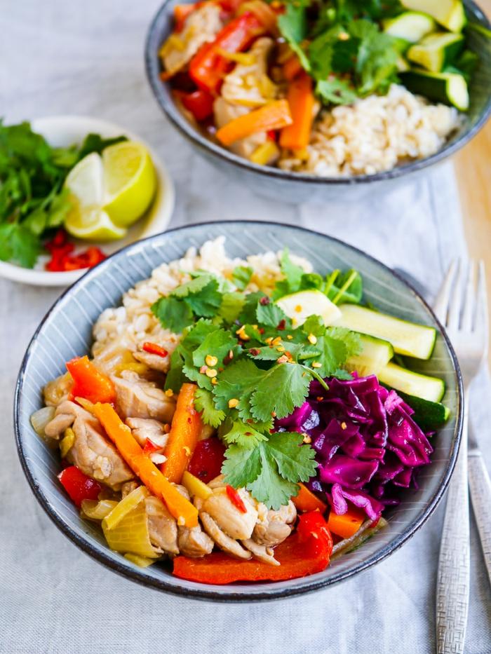 comidas para almorzar ricas en nutrientes y saludables, platos con arroz y verduras, alimentos para adelgazar ideas en imagines