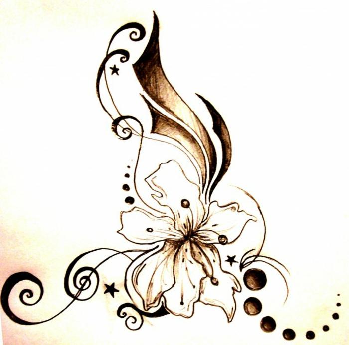 diseños de tatuajes orientales con flores, tatuaje flor de loto bonito, más de 80 propuestas de tatuajes simbólicos