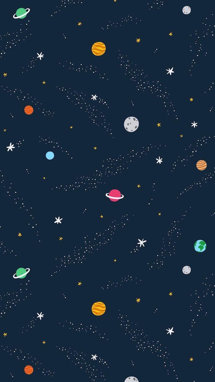 dibujos galácticos bonitos para tu teléfono móvil, fondos de patalla movil originales y coloridos, diseños de fondos de pantalla