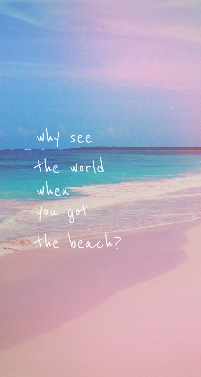 preciosa imagen del mar en colores pastel, frases bonitas con fotos para poner en la pantalla de tu movil