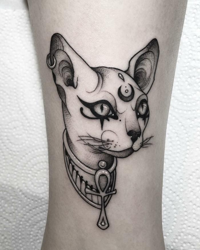 tatuajes de gatos simbolicos, los principales simbolos de la cultura del antiguo egipto en tatuajes, ojo de horus tatuaje,