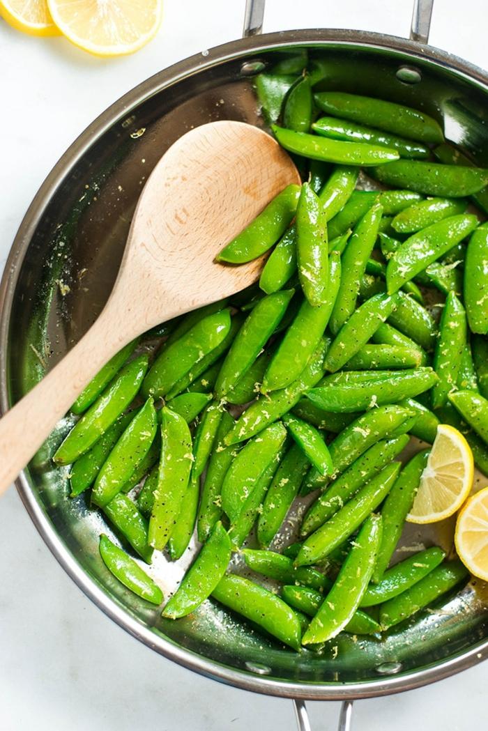judías verdes cocidos con limón y parmesano, ideas de recetas faciles y sanas, más de 80 propuestas de recetas para el verano