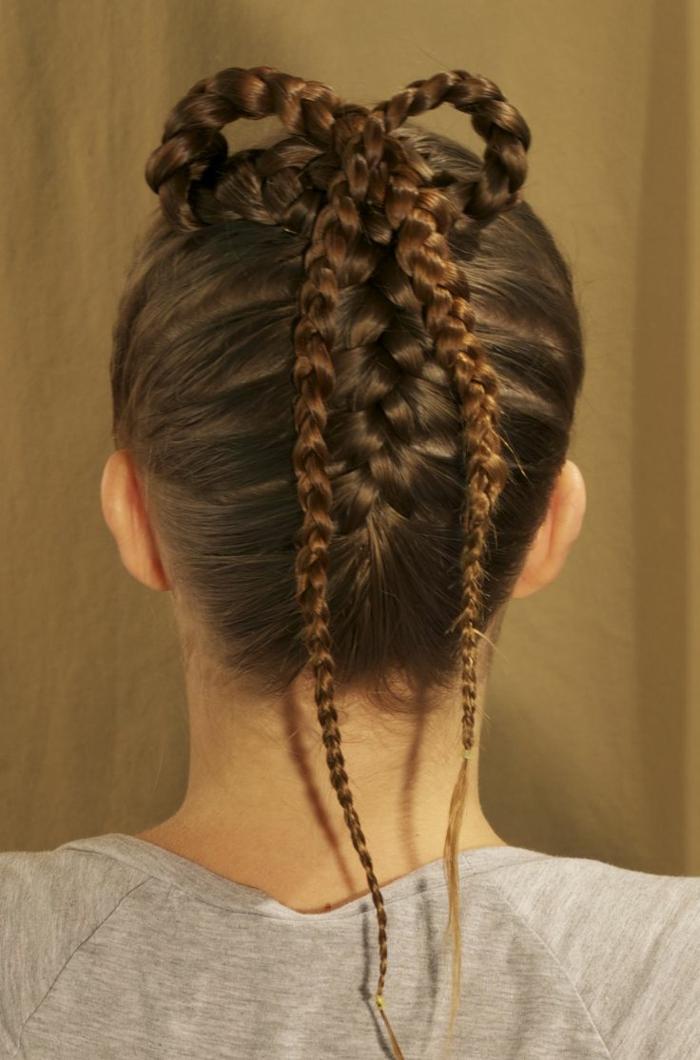 peinados vintage con trenzas en estilo medieval, los mejores ejemplos de recogidos con trenzas para media melena y pelo largo