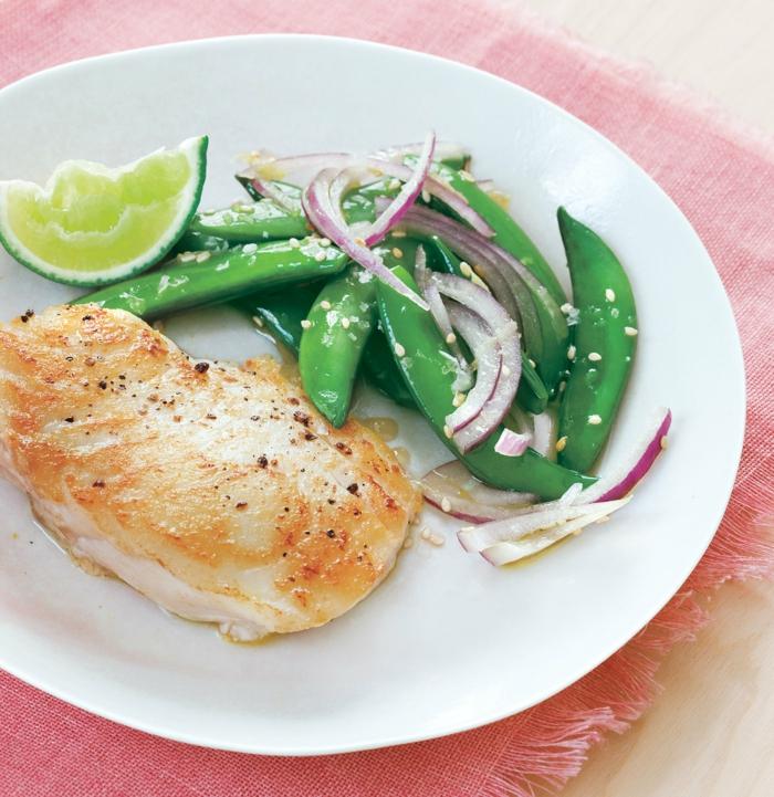 pollo cocido al horno con judías verdes y lima, ideas de recetas faciles y sanas, más de 80 propuestas de platos saludables