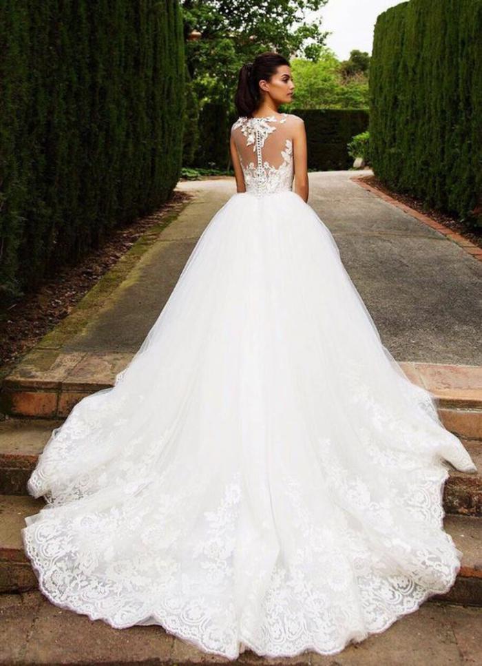 vestido corte princesa con una espalda original, vestidos corte sirena novia y corte princesa, fotos de hermosos vestidos de novia