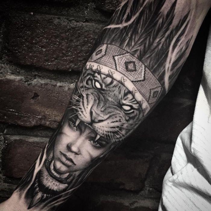 brazo entero tatuado, tatuajes simbolicos hombre, tatuaje en el antebrazo, más de 100 diseños. los mejores diseños de tattoos