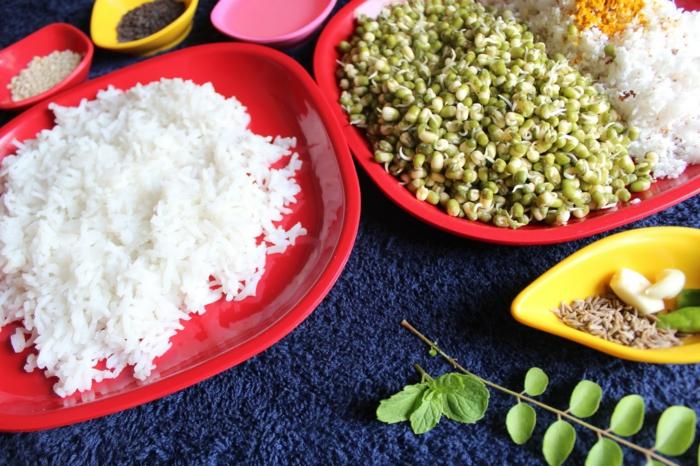 dieta para perder peso, iedas de recetas en imagines, alimentación saludable, comidas con legumbres, quinoa, garbanzos, arroz