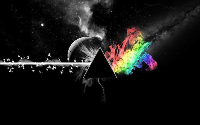 imagines de fondo para cada gusto, dibujos y fotos místicas, triángulo, arco iris, aves en vuelo, planetas, dibujo cósmico